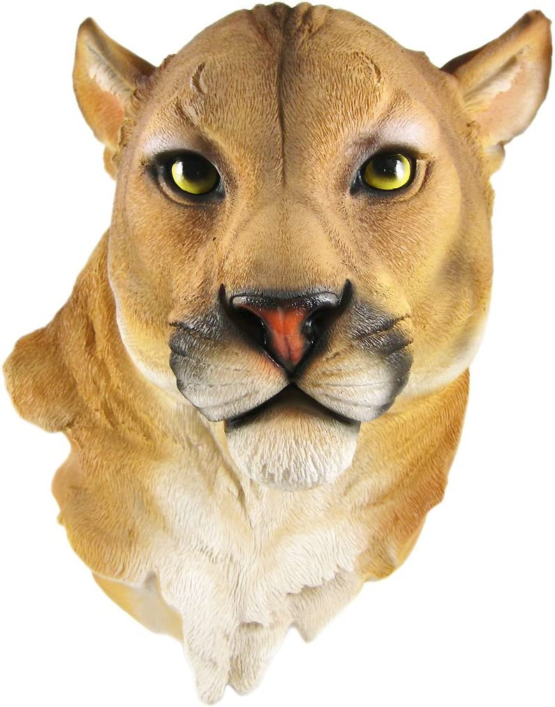Things2Die4 Mountain Lion Head Mount Wall Statue Bust