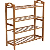 SONGMICS Bamboo Shoe Rack 4-Tier Entryway Shoe Shelf Storage Organizer ULBS94N