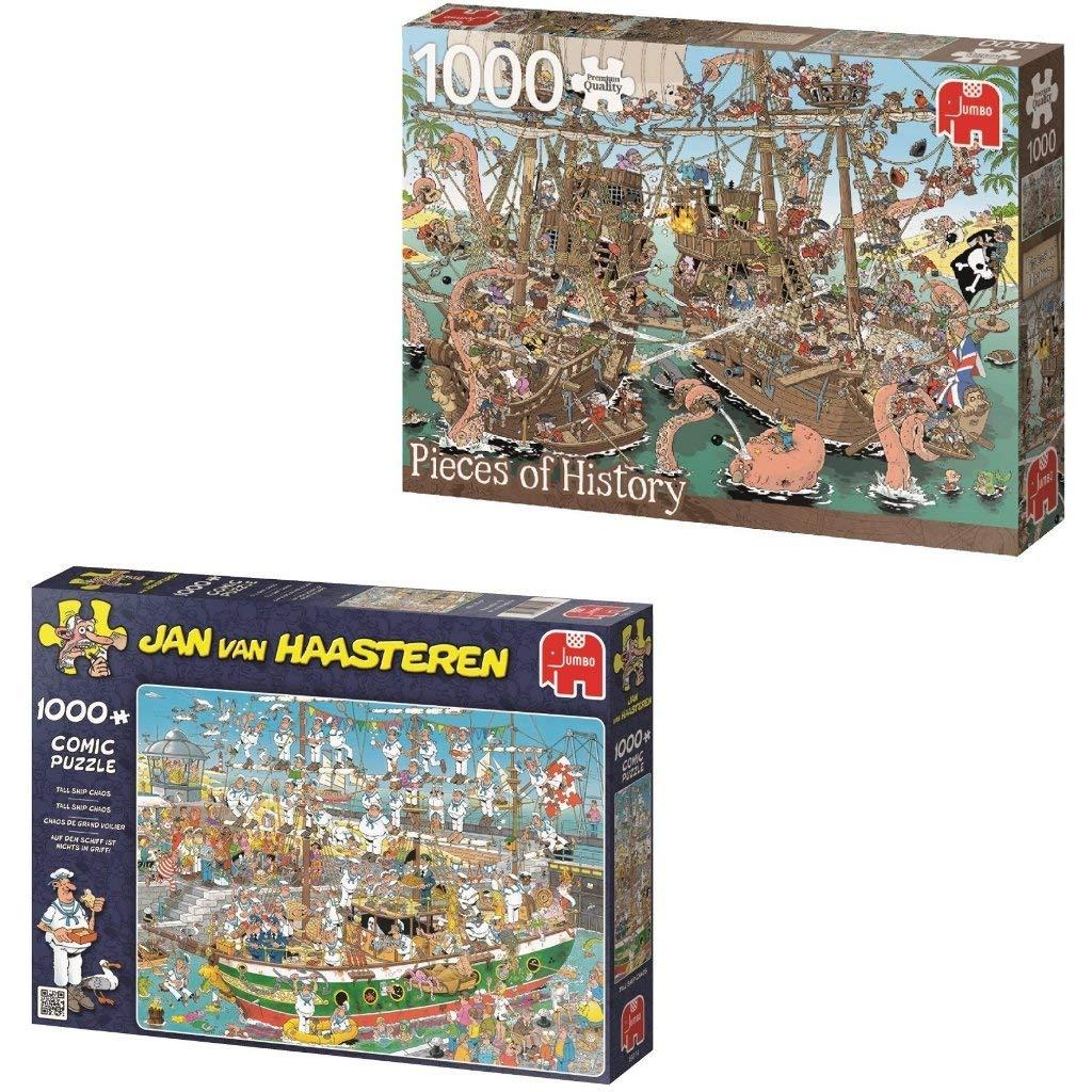 2019年新作入荷 面白い漫画Shipパズルバンドル2 1000 piece jigsaw Tall puzzles including a a Comic Haasteren Pirateボート歴史パズルのピースand a Jan van Haasteren Tall Ship Chaosジグソーパズル B07FJYN57B, 道の餃子駅:8c2b2a02 --- 4x4.lt