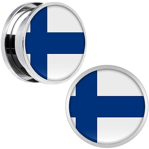 BodyCandy Acero Inoxidable Finlandia Bandera Ajuste Tornillo ...