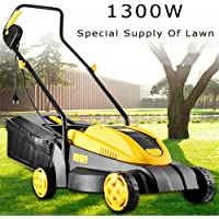 Electric Corded Lawn Mower, 1300W Electric Hover Collect Lawn Mower Garden Grass Cutter Efficient Lawn Mower Gardening…