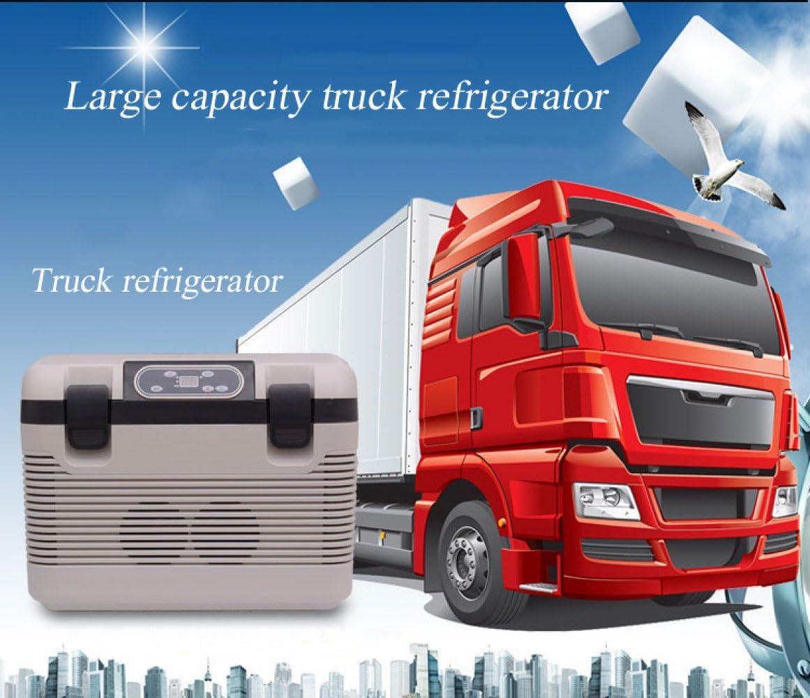 FREEZER Auto K/ühlschrank Kompressor K/ühlbox Mit 12//24//220 Volt Anschluss F/ür Autos Und LKW Kapazit/ät 19L Mini K/ühlschrank White