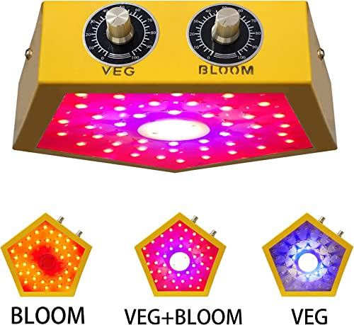 1000W COB LED Grow Light Full Spectrum Plant Growing Lamps with Veg and Bloom for Indoor Plants Basement Planting Actual Power 110W