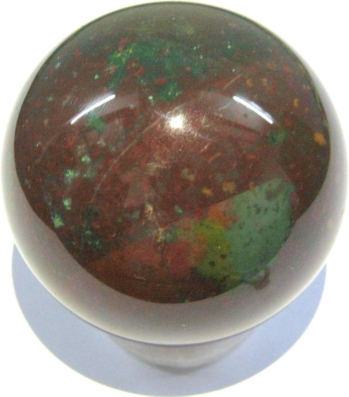 Gema de sangre, 205 g, 52 mm, esfera de cristal, curación FENG ...