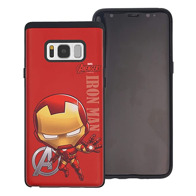 on sale 9366f 01750 Amazon.com: Galaxy S8 Case Marvel Avengers Layered Hybrid [TPU + PC ...
