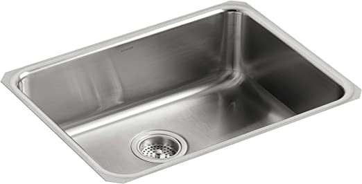 KOHLER K-3332-NA Undertone Extra-Large Squared Undercounter Kitchen Sink,  Stainless Steel