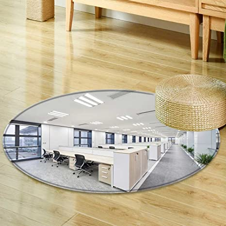Round Area Rug Carpet Modern Office Interior Living Dinning Room And  Bedroom Rugs  Round 31u0026quot