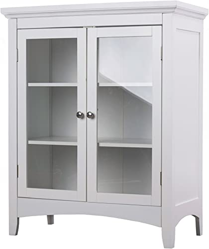 White Bathroom Cabinet Floor Home Fashions Double-door Bathroom Furniture Small Wall Cabinets Vanity for Bathroom