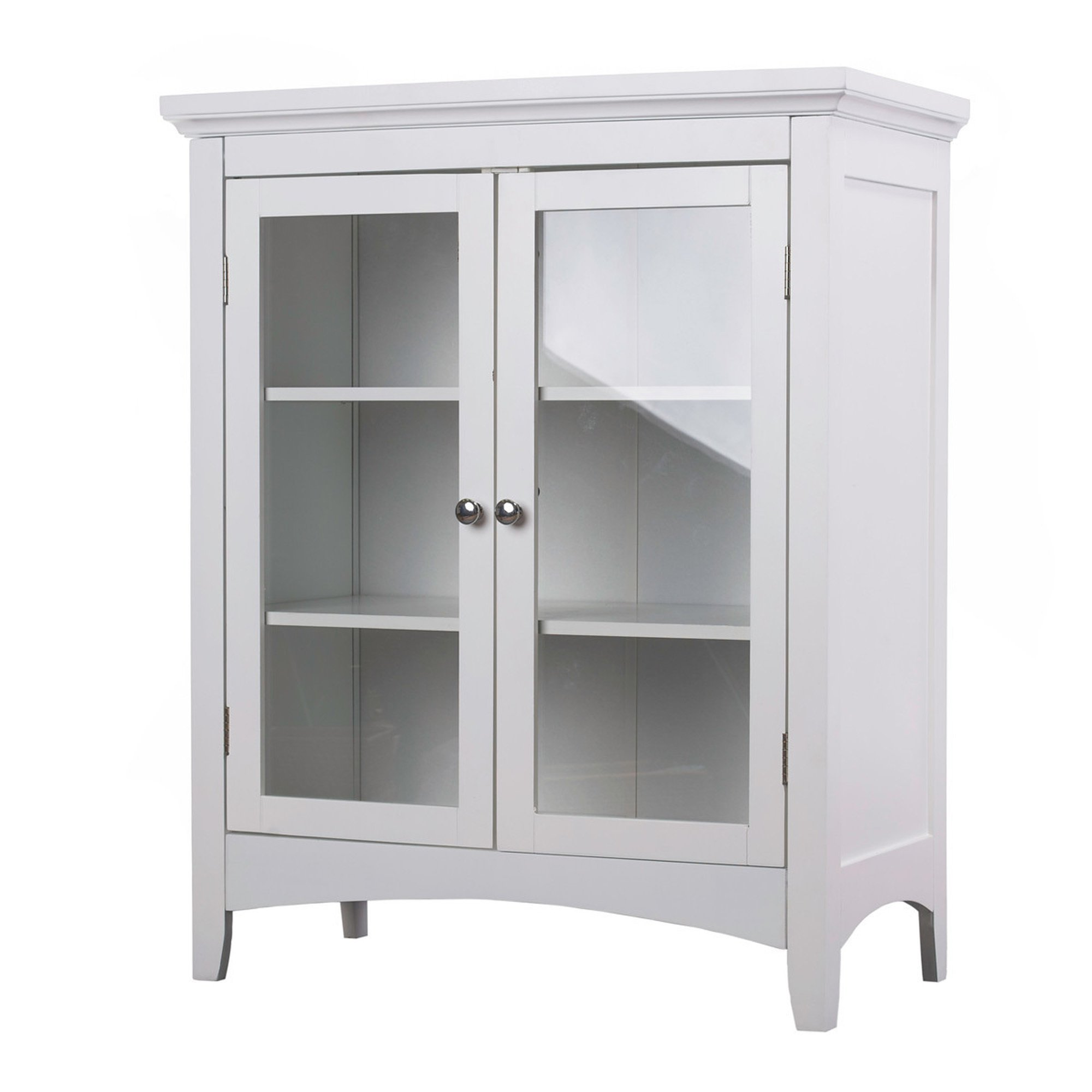 White Bathroom Cabinet Floor Home Fashions Double-door Bathroom Furniture Small Wall Cabinets Vanity for Bathroom by SM Traditional
