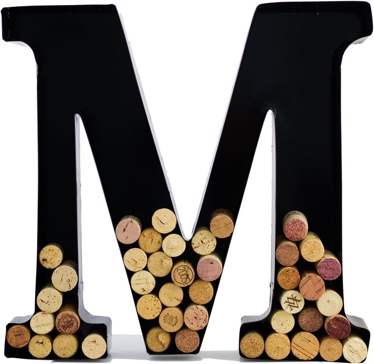 Wine Cork Holder - Metal Monogram Letter (M)