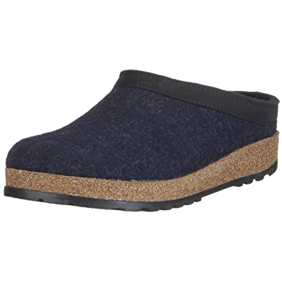 HAFLINGER GZL Leather Trim Grizzly | Mules & Clogs
