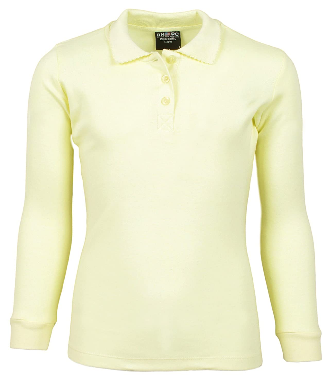Beverly Hills Polo Club Uniform Polo Long Sleeve Interlock Shirts