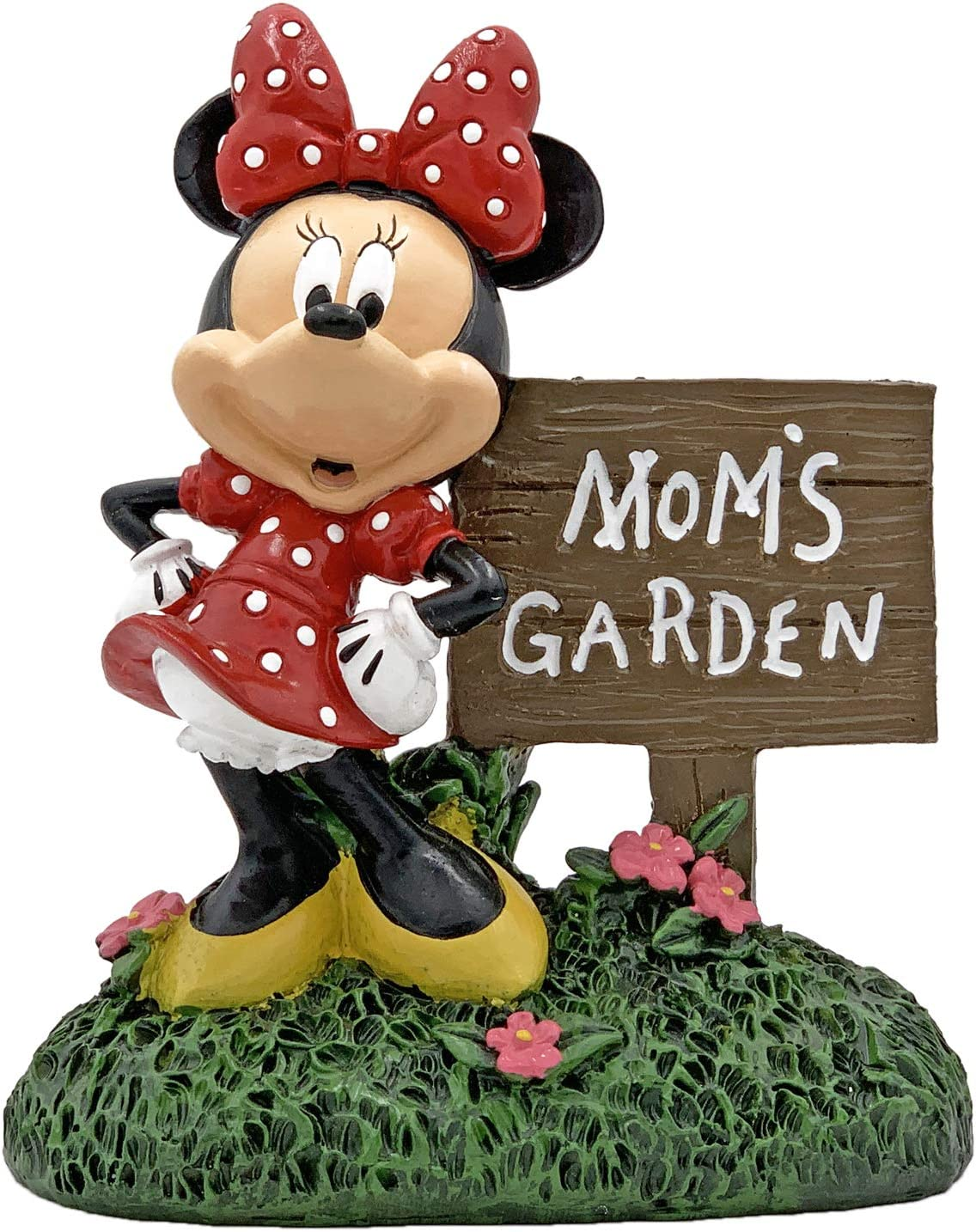 The Galway Company Minnie Mouse Mom's Garden Statue, Hand Painted, Made of Durable Stone Resin, Standing at 7 inches Tall and 5 inches Wide. Official Disney Licensed Product.