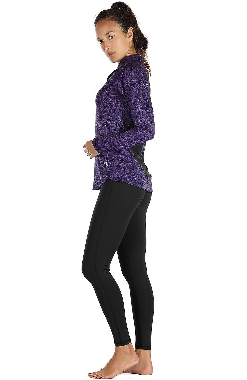 1//2 Zip Pullover Training Running Tops icyzone Womens Workout Jacket Long Sleeve Sport Shirt