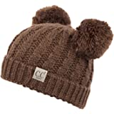 9e76ecbfc1b C.C Exclusives Children Kid Double Pompom Knitted Beanie for Kids Ages 2-7 ( KID
