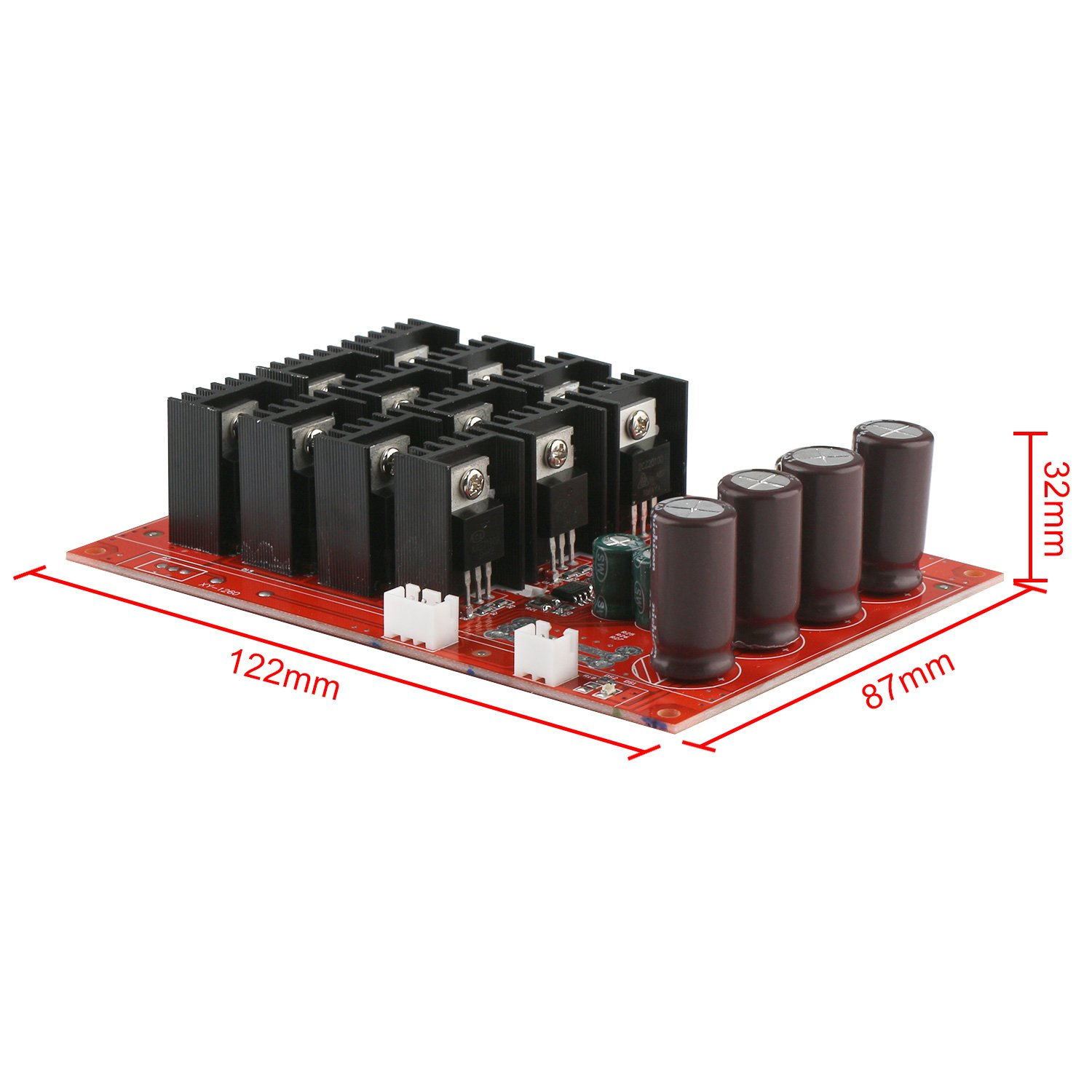 Motor Speed Control Board, DROK DC 10-50V 60A High Power Motor Speed Controller PWM HHO Driver Controller Module 12V 24V 48V 3000W Extension Cord with Switch by DROK (Image #7)