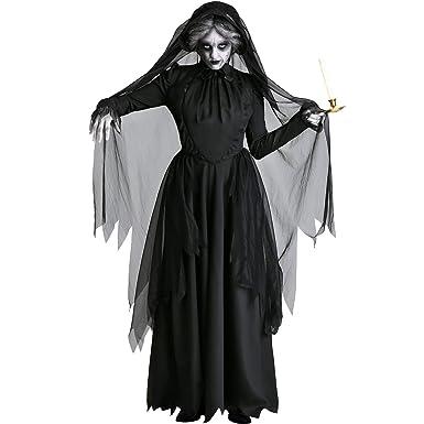 LBHHH Disfraz de Vampiro Fantasma de Halloween, Disfraz de Bruja ...