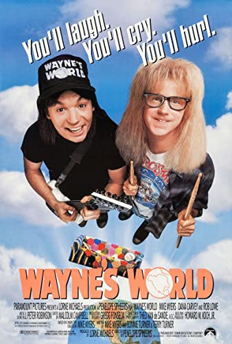 Wayne's World Original Movie Poster. 1992 at Amazon's Entertainment  Collectibles Store