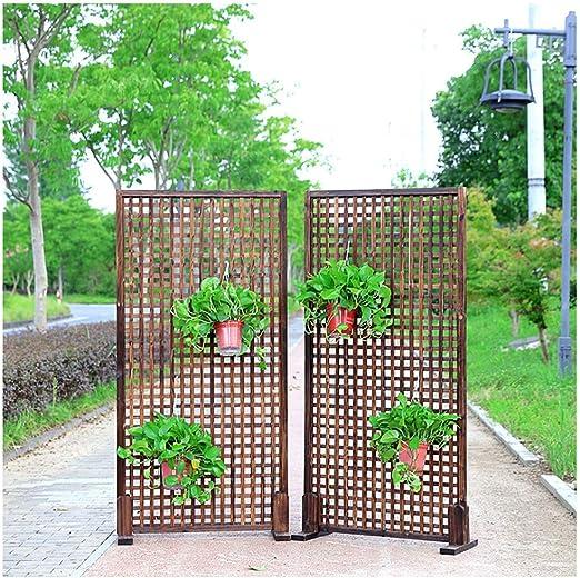 ZENGAI-vallas De JardíN Cortar Pantalla Valla De Rejilla Intimidad Puesto De Flores Rejilla 2 Piezas, 4 Pies De Madera, 2 Conectores (Size : 60x90cm): Amazon.es: Jardín
