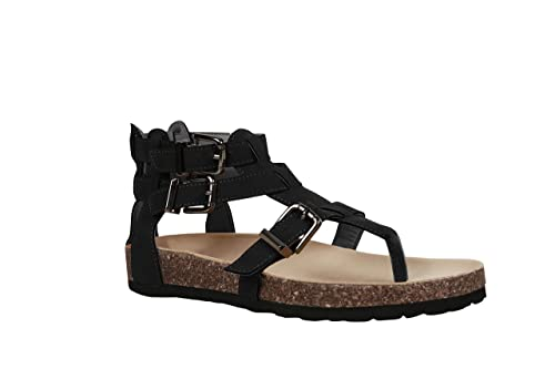 5d5ca05a71bca Ofenbuy Womens Strap Gladiator Sandals Ankle Flats Roman Thong Flip Flop  Summer Shoes
