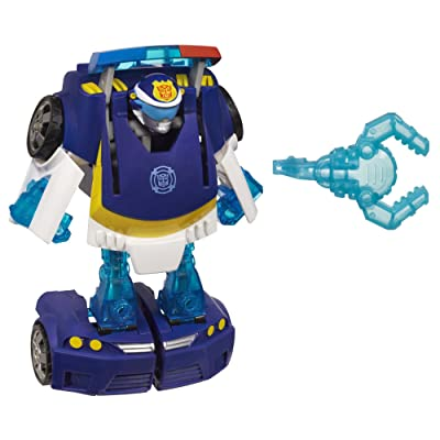Playskool Heroes Transformers Rescue Bots Energize Chase the Police-Bot Figure: Toys & Games