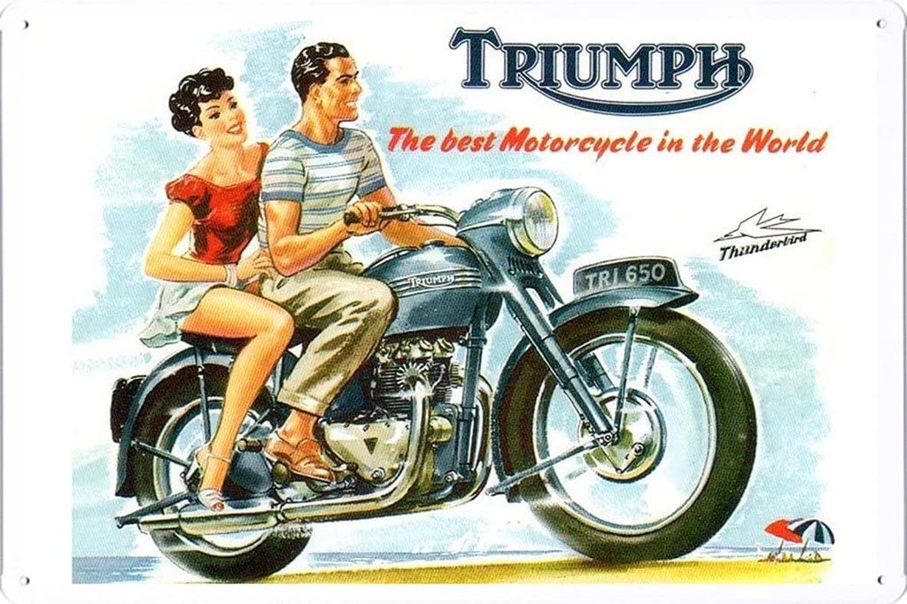 "Amazon.com: Triumph tri650 Thunderbird 7.8""x11.8"" ..."