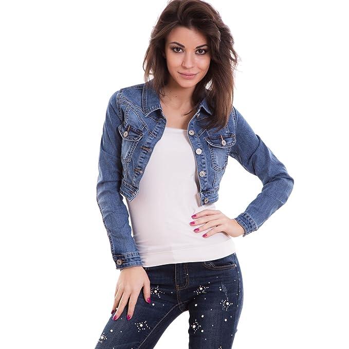 best service 45d69 1e4b8 Toocool - Giacca Donna Jeans Corto Giacchetto Giubbino Giubbotto  StoneWashed Nuovo A1565