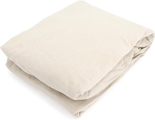 Linnea - Sábana Bajera de Franela (180 x 200 cm, 100% algodón), Color Crudo: Amazon.es: Hogar