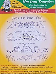 4010 Aunt Martha's Hot Iron On Transfers BLESS OUR HOME Embroidery by_alleycat32