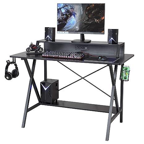 Amazon.com: Sedeta escritorio para juegos, mesa de juegos de ...