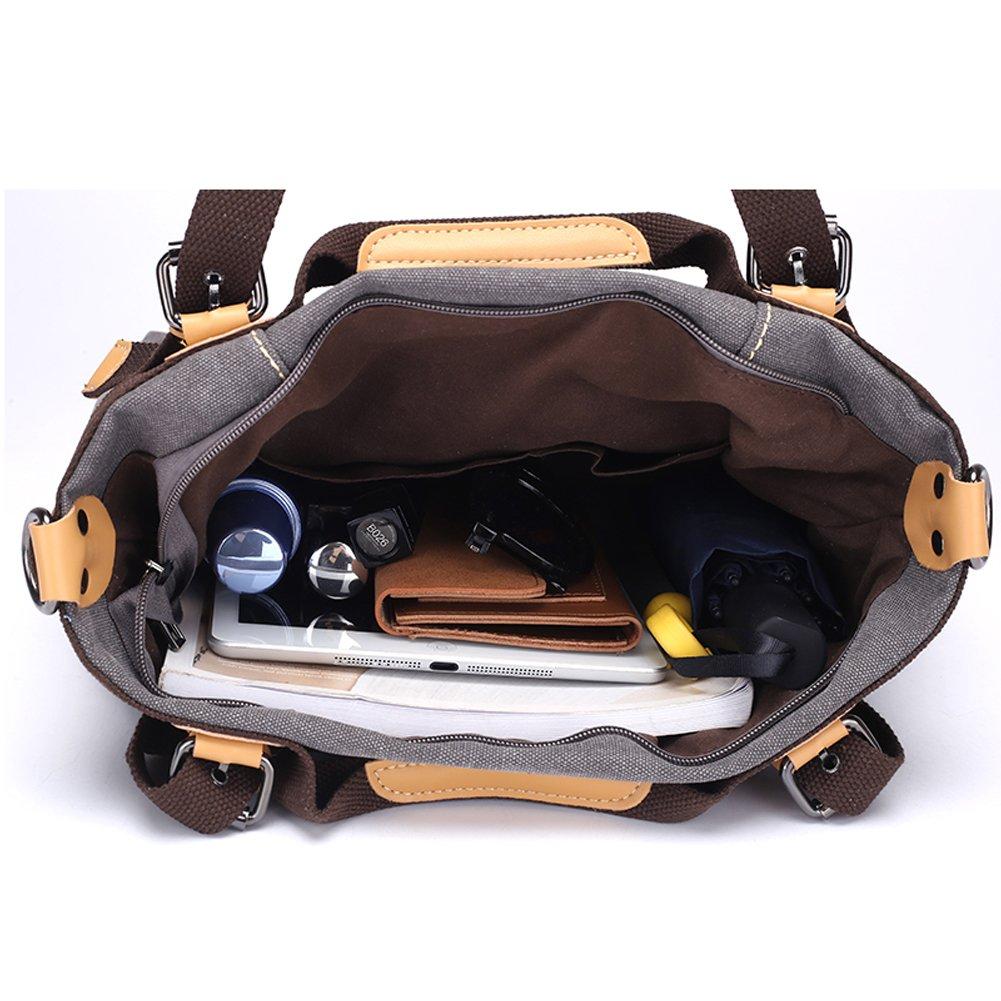Z-joyee Women Shoulder bags Casual Vintage Hobo Canvas Handbags Top Handle Tote Crossbody Shopping Bags by Z-joyee (Image #7)