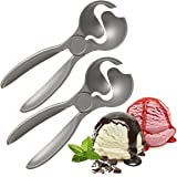 2 Pack Smart Ice Cream Scoop Scoopers Set By Profreshionals Non Stick Cast Aluminum Metal