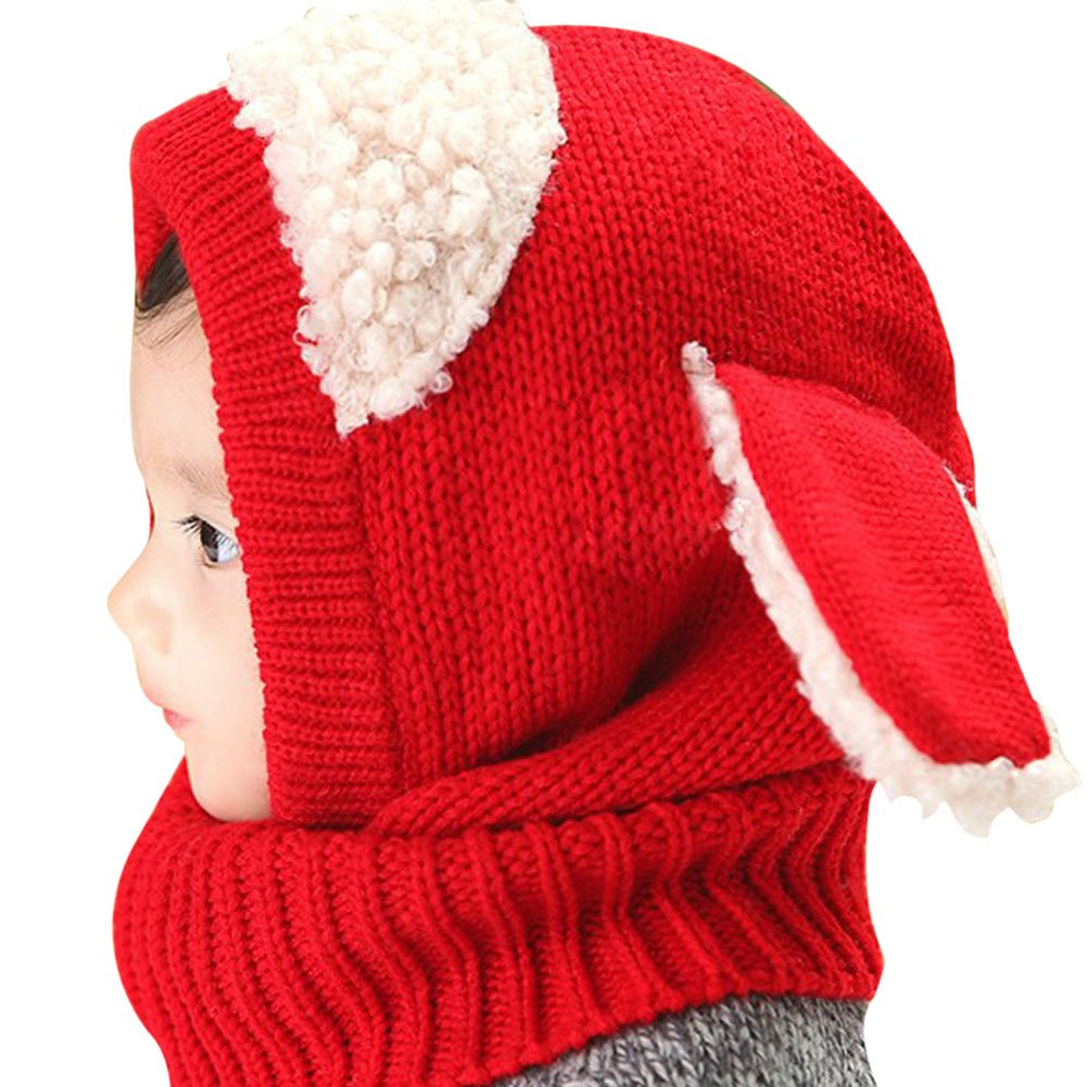 Chinatera Toddler Girls Boys Winter Hat Scarf Knitted Earflap Hood Scarves Caps