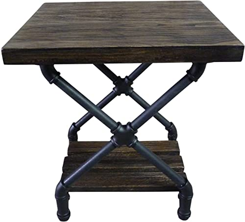 Deal of the week: FURNITURE PIPELINE Rustic Side End Table Bedroom Night Stand