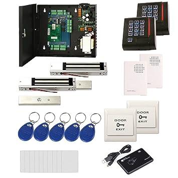 2 doors ip security door access control kit & ac 110v metal power box+rfid