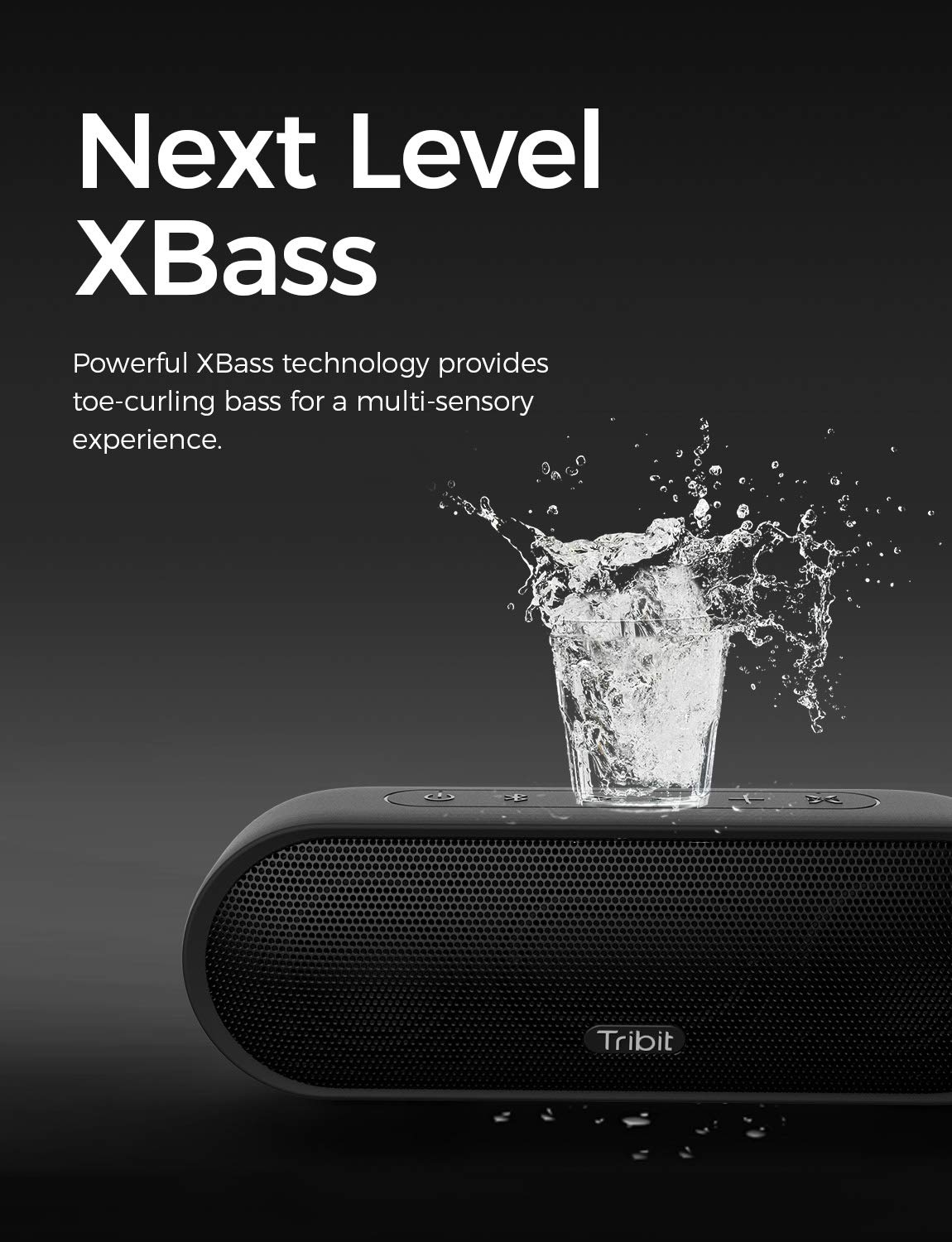 Tribit MaxSound Plus Portable Bluetooth Speaker, 24W Wireless Speaker with Powerful Louder Sound, Exceptional XBass, IPX7 Waterproof, 20-Hour Playtime, 100ft Bluetooth Range for Party, Travel, Outdoor by Tribit (Image #3)
