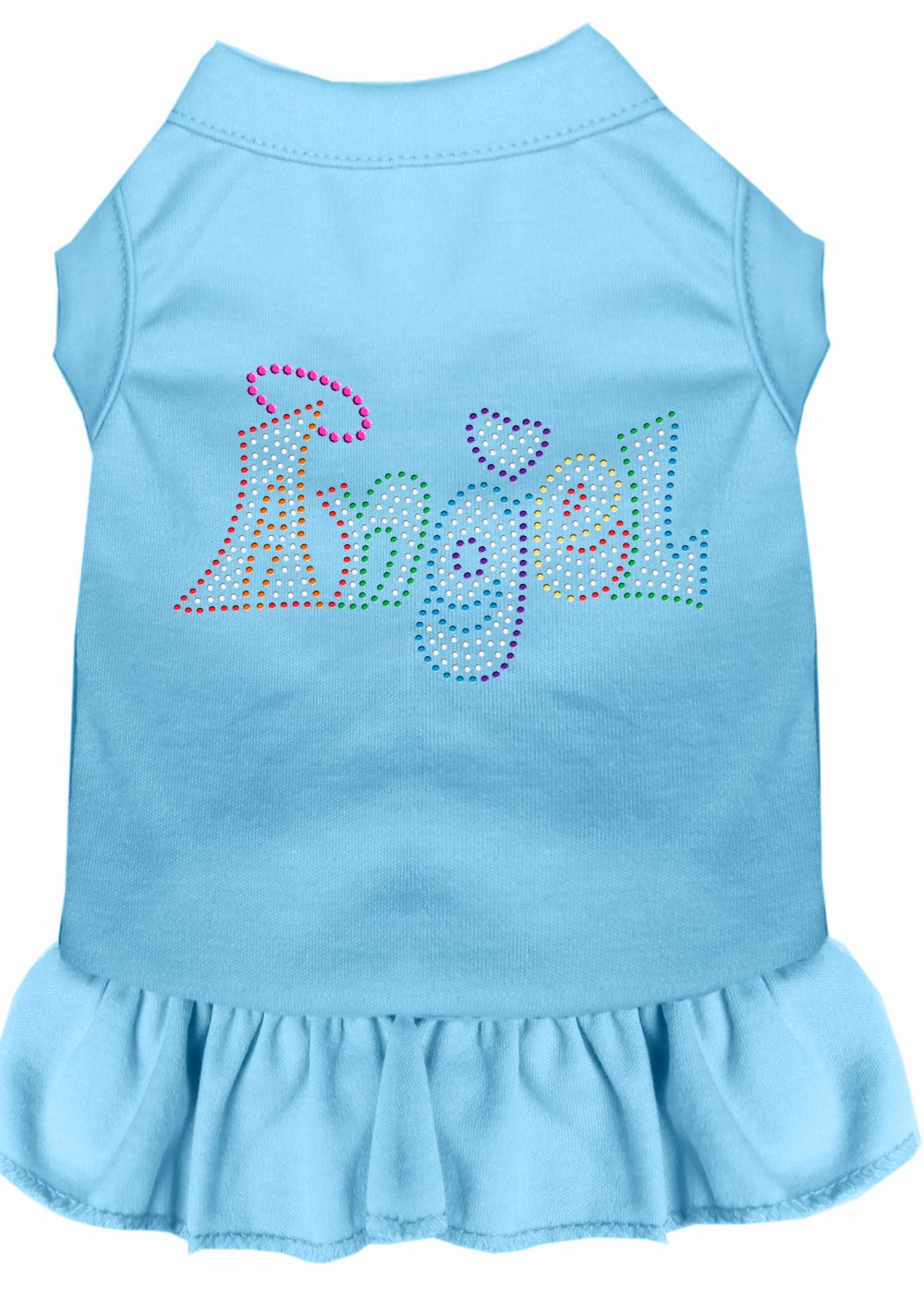 Mirage Pet Products 57-63 XSBBL bluee Technicolor Angel Rhinestone Pet Dress Baby, X-Small