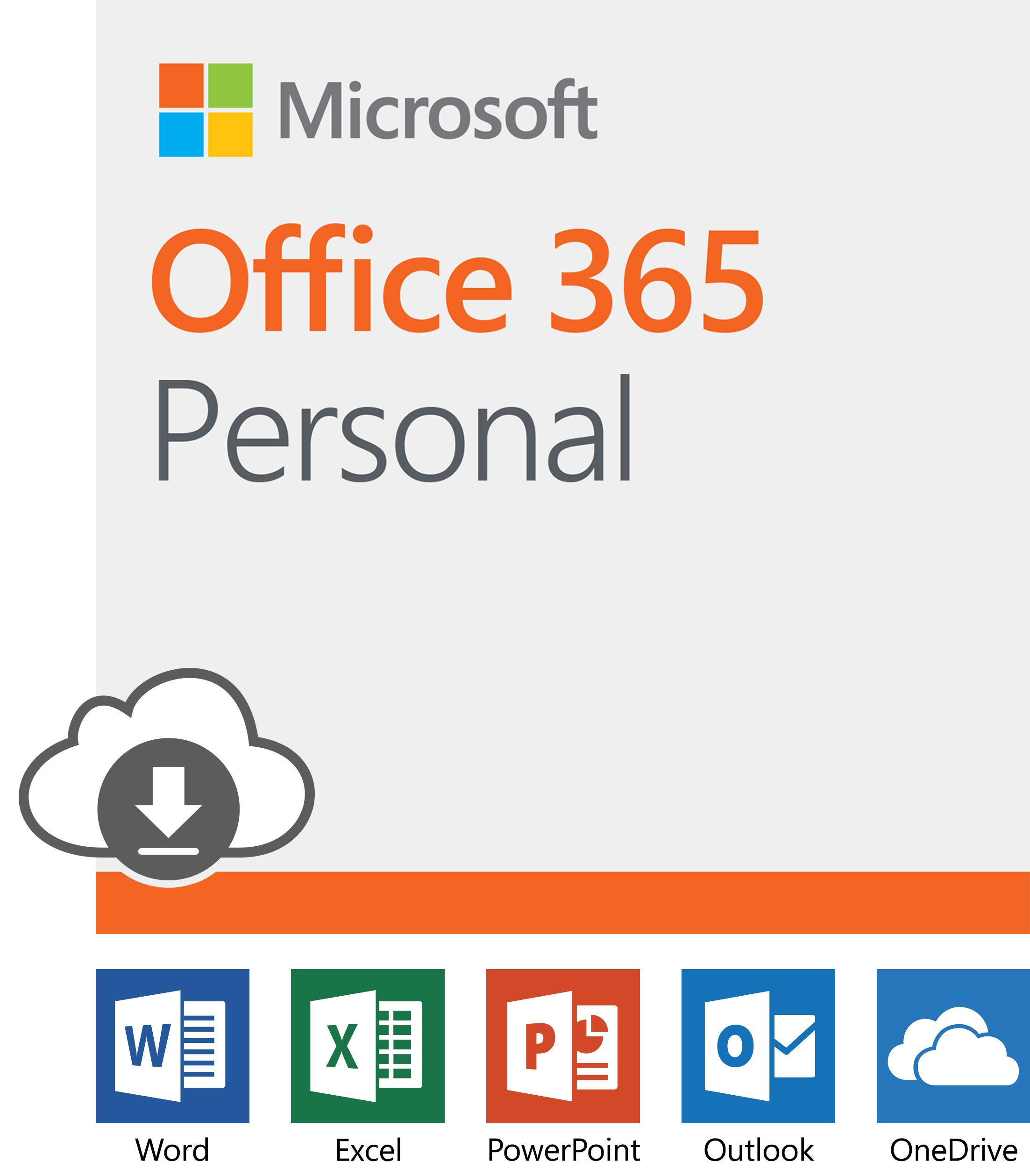 Microsoft Office 365 Personal | 12-month subscription with Auto-renewal, 1 person, PC/Mac Download by Microsoft