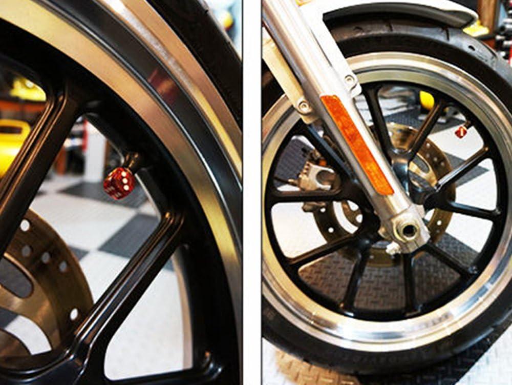 wasserdicht Fahrrad f/ür Auto Reifen iTimo Ventilkappen LKW Auto-Dekoration W/ürfel 4 St/ück Rot Staub