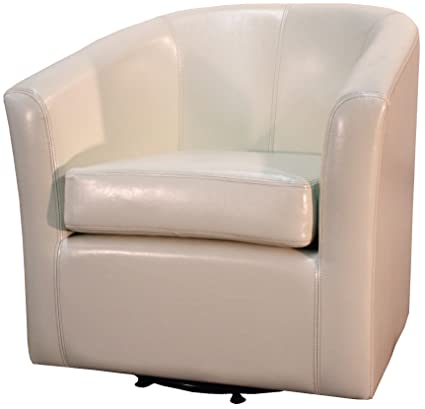 Delicieux New Pacific Direct Hayden Swivel Bonded Leather Tub Chair,Beige