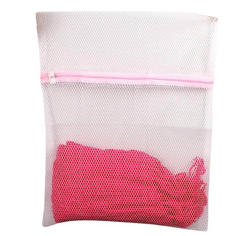 HAND Large Tough Zipped Laundry/Washing Bags - Colour Separation, Sweater, Shoes -1 x 40x50cm and 1x 50x60cm, White 2 Pieces