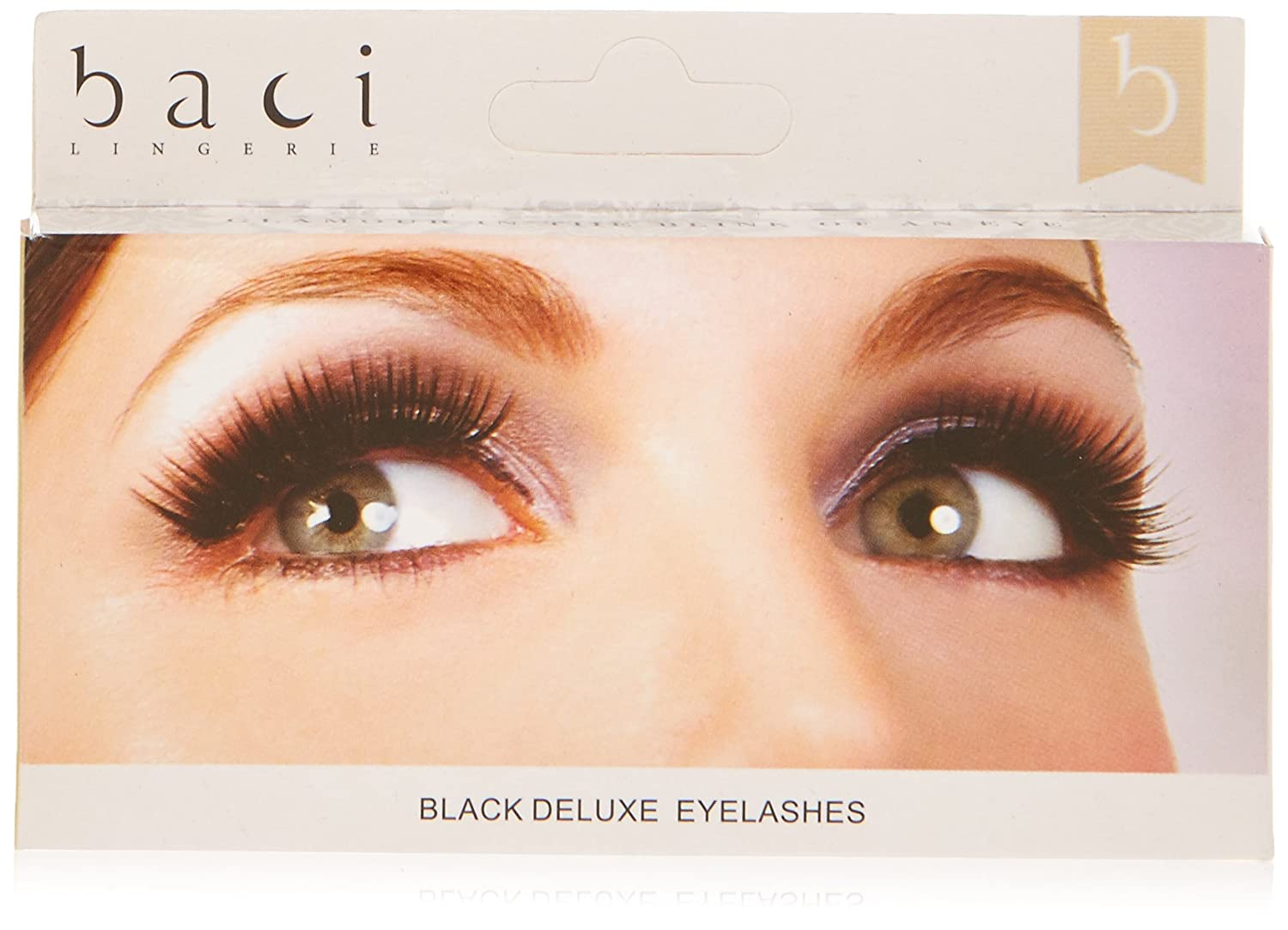 5dd76193aa8 Amazon.com : Baci Natural Look Style No.673 Deluxe Eyelashes with Adhesive  Included, Black : Fake Eyelashes And Adhesives : Beauty