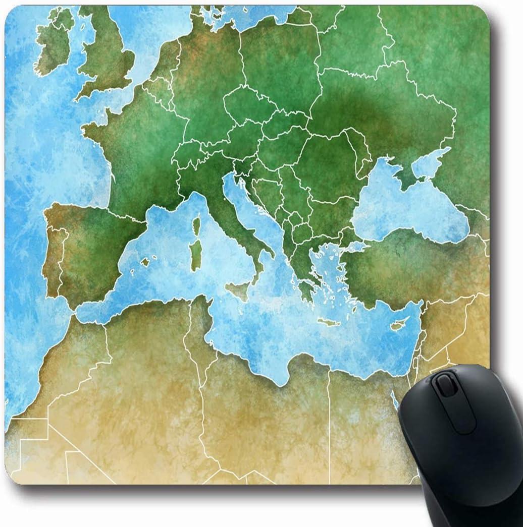 Luancrop Alfombrillas de ratón Líbano Acuarela Francia Handdrawn Mapa Mediterráneo Europa España África Medio Naturaleza Argelia Antideslizante Ratón para juegosAlmohadilla de Goma almohadillada: Amazon.es: Electrónica