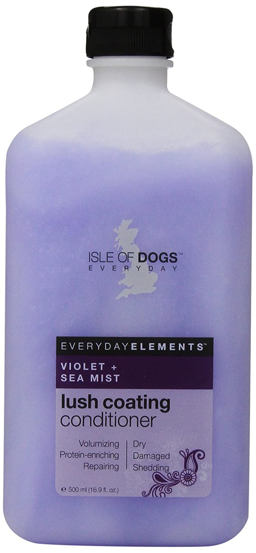 Everyday Isle of Dogs Lush Coating purple + Sea Mist Dog Conditioner for Dry Damaged and Shedding Hair 16.9oz