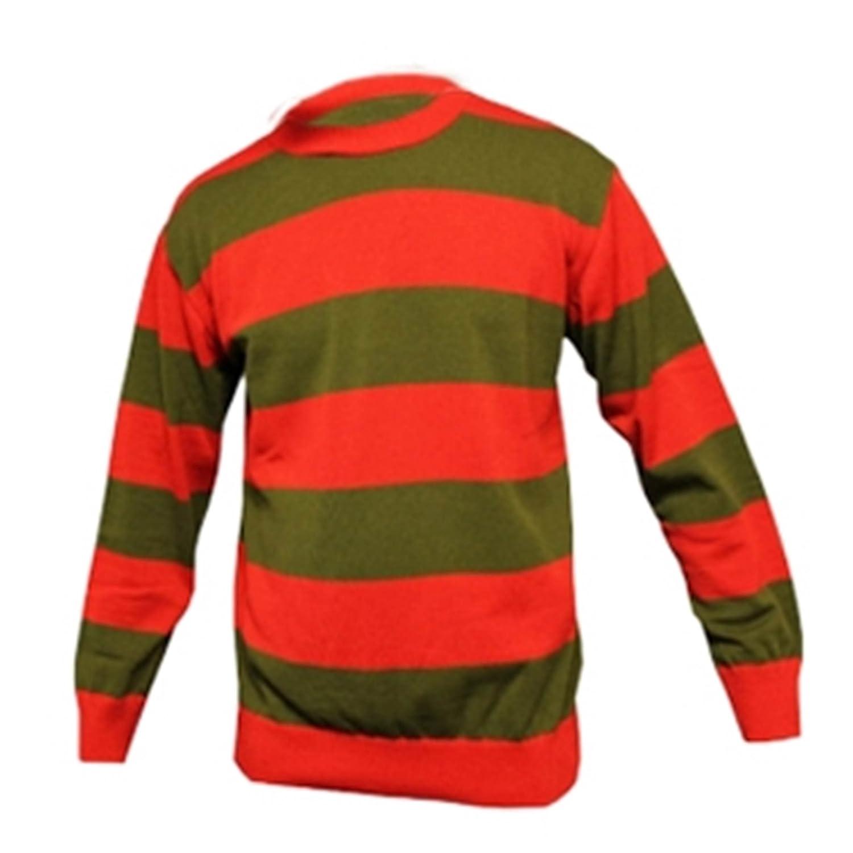 Amazon.com: Wicked Fun Men's Stripe Long Sleeve F Die Jumper ...
