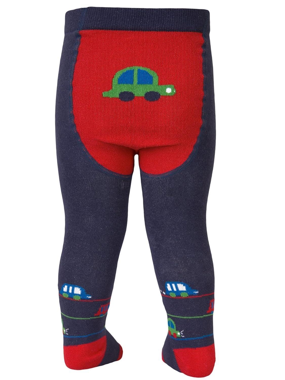 TUPTUSIE Baby Boys Cotton Tights Jeans Blue Bubble Car M2Z Jeans Blue)
