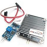 HiLetgo LM393 雨滴センサー 天気モニターセンサー FOR-04 ニッケル プレート3.3-5V Arduino [並行輸入品]