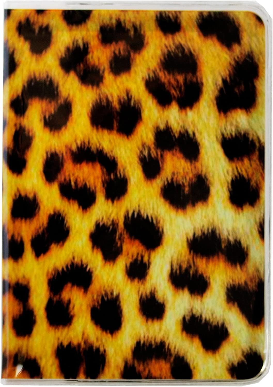 DIYJewelryDepot 1 Pc Leopard Print Passport Cover Holder Travel Case
