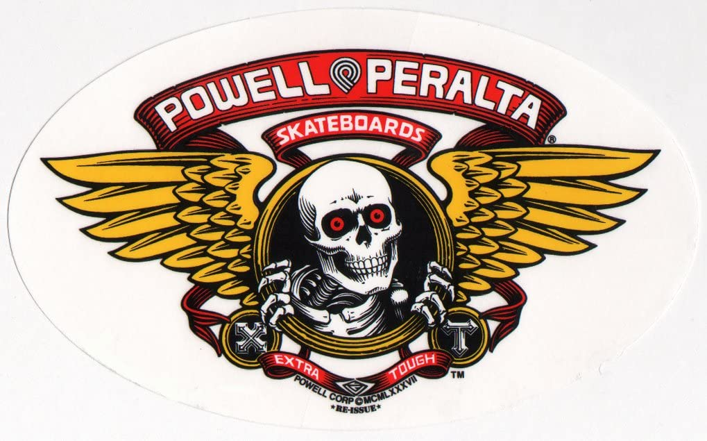 Ripper Skateboard Sticker Decal Powell Peralta Skeleton Logo Bones Brigade Skate