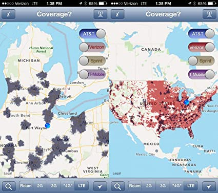 Amazoncom Home Comforts Laminated Map Coverage Map Us Cellular - Us-cellular-map